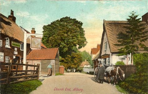 "Title: Church End, Albury - Publisher: ""Albury Series"" John Caton & Sons - Date: Posted 1913"