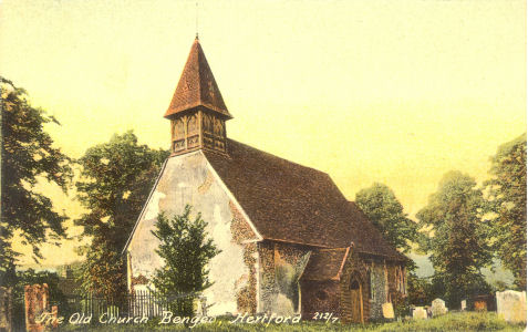Bendeo Old Church - Knight Collection post card