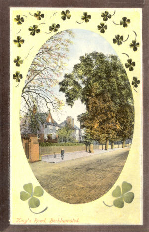 Kings Road, Berkhamsted, circa 1910 - Published by LN in Castle Series