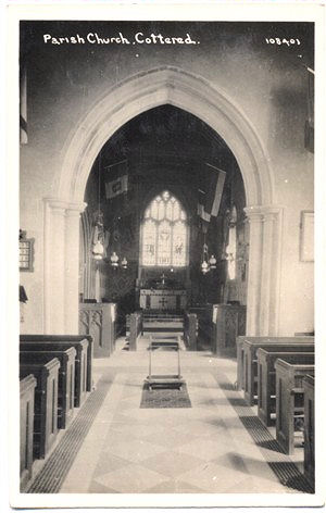 Title: Parish Church, Cottered - Publisher: B P co Ltd, No 108401 - real photo, date uncertain