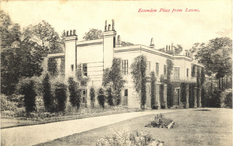 Essendon Place from Lawn, Eddendon, Hertfordshire