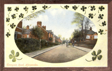 "Tennyson Road, Harpenden - Post Card by ""LN"" in the Castle Series"