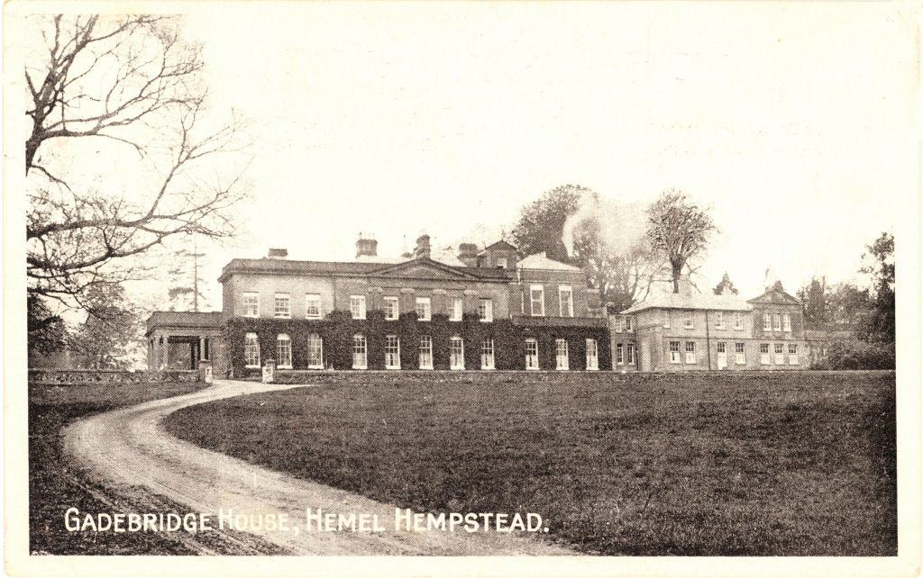 Gadebridge House, Hemel Hempstead - from Tombleson post card