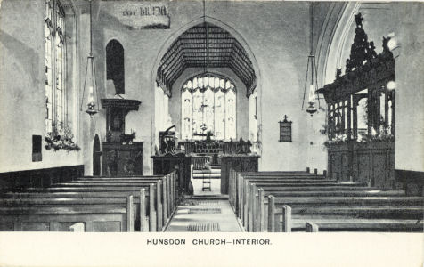 Interior, St Dunston's Church, Hunsdon, Herfordshire