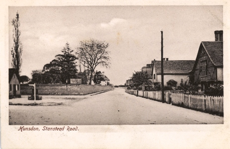 Stanstead Road, Hunsdon. Hatfield Series Post card No 38