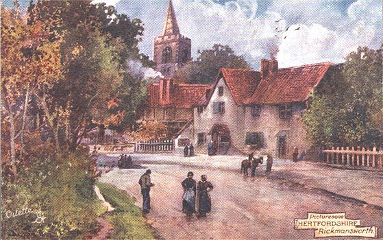 "Title: Picturesque Hertfordshire, Rickmansworth - Publisher: Raphael Tuck, ""Oilette"" 7425 - circa 1908"