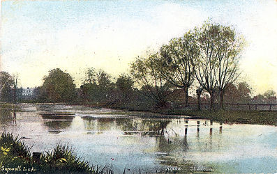 Sopwell Lake, St Albans, possibly 1890 photo - Post Card by Alpha, St Albans