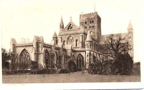 Title: St Albans Abbey - Publisher: Gibbs & Bamforth Ltd, Stationers, St Albans - Printed by R.A.P. Co, London