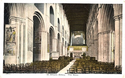 Title: St Albans Abbey, The Nave - Publishers: No info, but numbered 30782 - Back suggests date circa 1903
