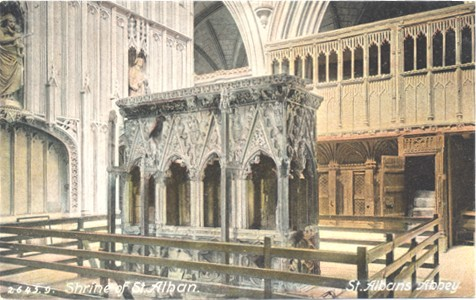 Title: Shrine of St Alban, St Albans Abbey - Publisher: Hartmann 2645.9 - P0sted 1905