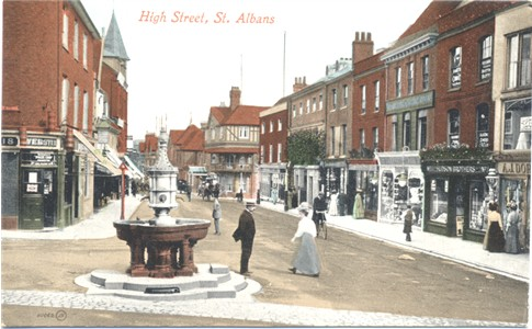 Text: High Street, St Albans - Publisher: Valentines Series - date circa 1910?