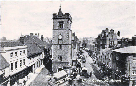 Text:Clock Tower, St Albans - Publisher: Valentine's series - posted 1914