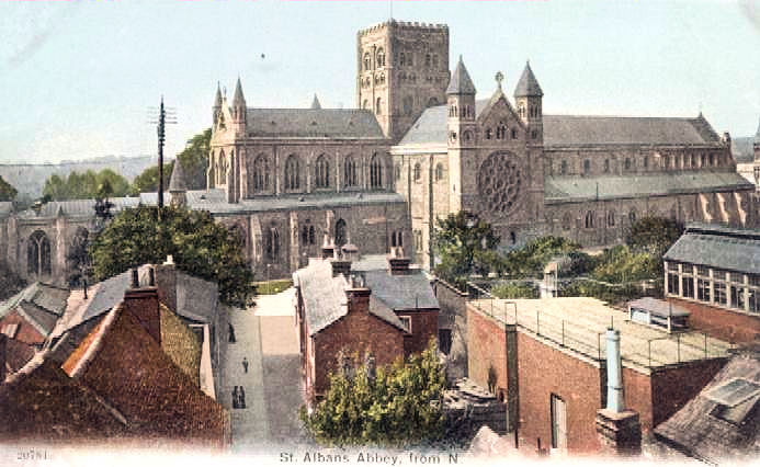 Title: St Albans Abbey, from N - Publisher ? No 20781 -circa 1905