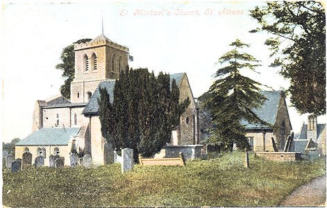 Title: St Michaels Church, St Albans - Publisher: Valentine's Series - Posted 1905