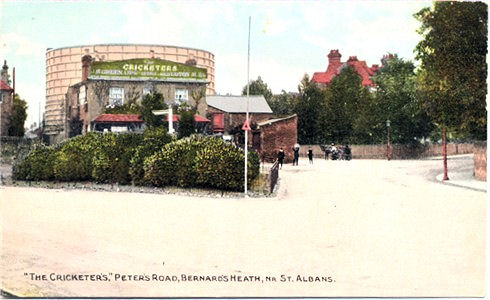 "Title: ""The Cricketer's"", Peters Road, Bernards Heath, Nr St Albans - Publisher: unknown but numbered 23366 - date circa 1905"